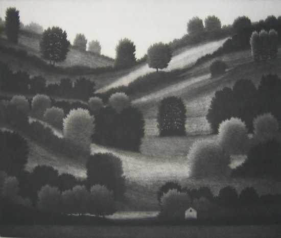 Robert Kipniss - Mezzotints - Lake Waramaug (New Preston, CT)