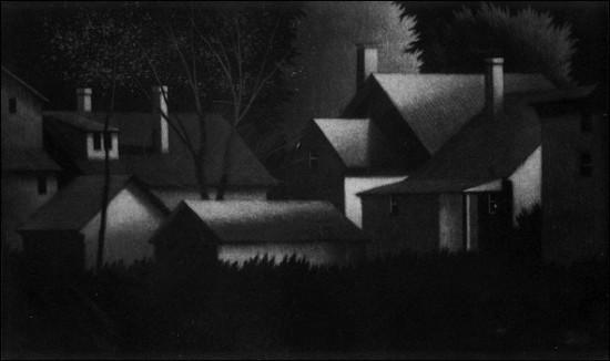 Robert Kipniss - Mezzotints - Nocturne II