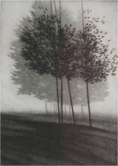Robert Kipniss - Mezzotints - Silver Morning