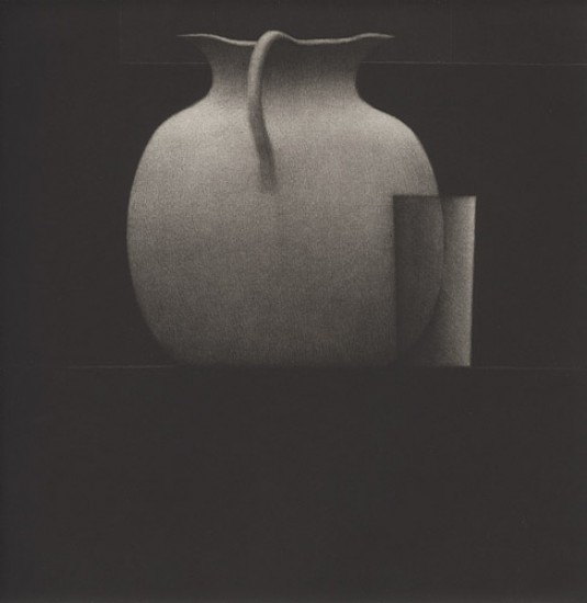 Robert Kipniss - Mezzotints - Still life w/pitcher and glass