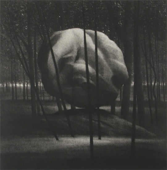 Robert Kipniss - Mezzotints - The balanced rock
