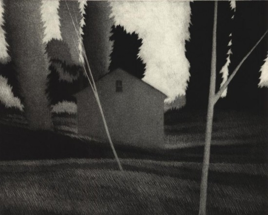Robert Kipniss - Mezzotints - The poet's house