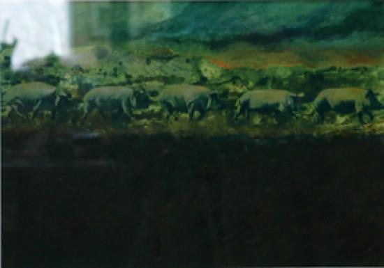 Murray Zimiles - Green Pigs