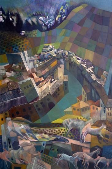 Murray Zimiles - San Gimignano Vortex, 2014