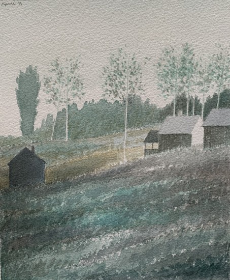 R Kipniss Paintings - Landscape w/Porch