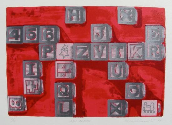 Rica Bando - ABC Blocks (Red)