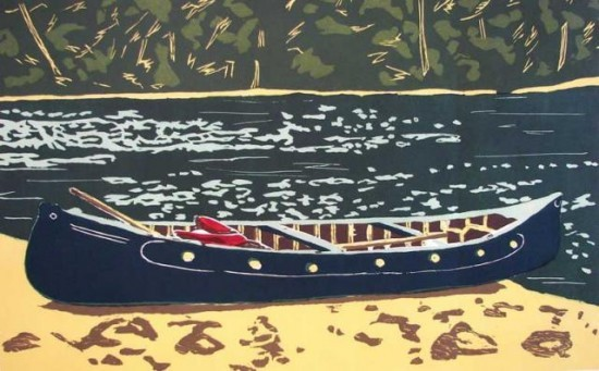Richard Bosman - Green Canoe