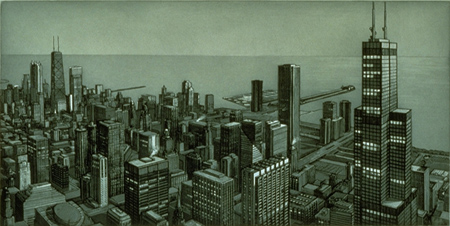 Richard Haas - Chicago View: Evening