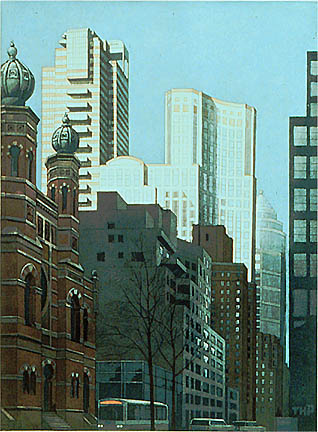 Richard Haas - Lexington Looking North, Central Synagogue, New York City