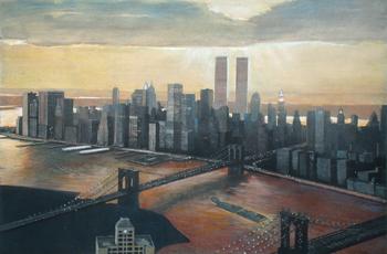 Richard Haas - Manhattan View, Twilight