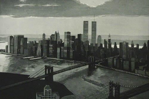 Richard Haas - Manhattan View Twilight