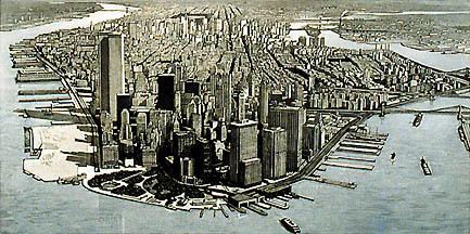 Richard Haas - Manhattan View Battery Park, Day