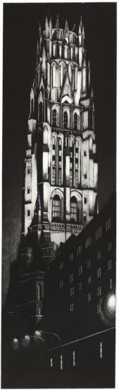 Richard Haas - Night View of Riverside Church