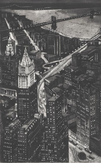 Richard Haas - View of Woolworth Building from World Trade Center