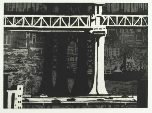 Richard Sloat - Prints - Bridges, Boats, Brooklyn B + W