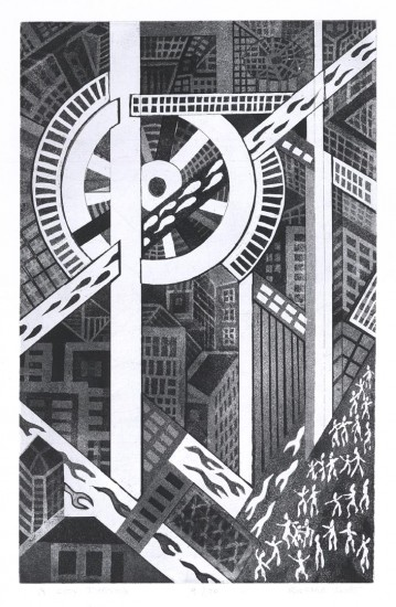Richard Sloat - Prints - A City Turning