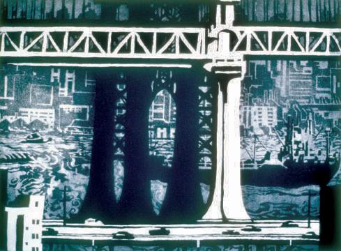 Richard Sloat - Prints - Bridges, Boats, Brooklyn