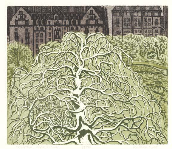 Richard Sloat - Prints - Central Park, Spring