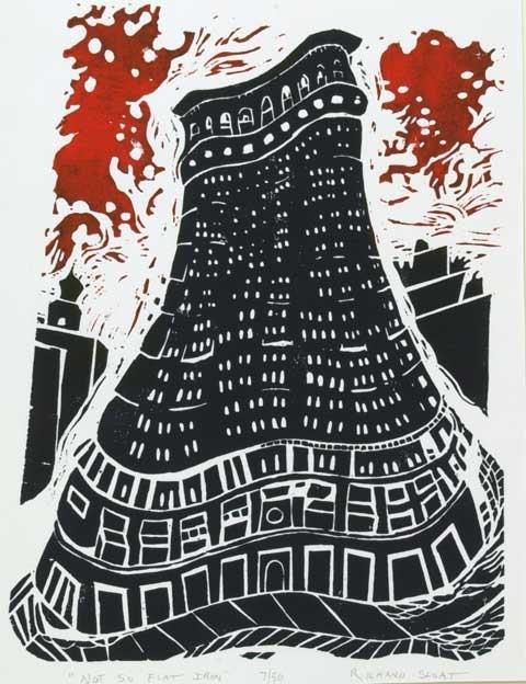 Richard Sloat - Prints - Not So Flat Iron