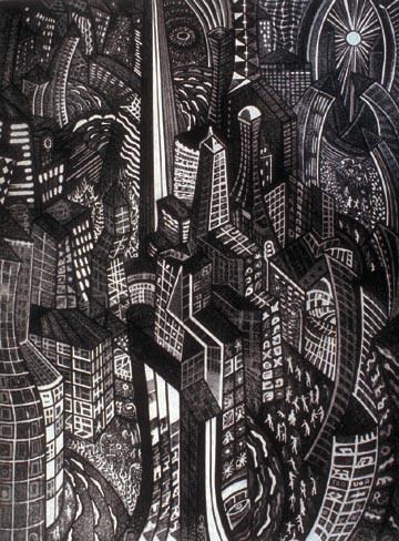 Richard Sloat - Prints - Rush Hour Shinng
