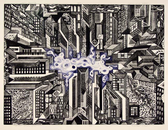 Richard Sloat - Prints - Upside, Downtown