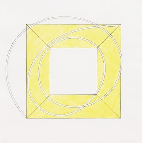 Robert Mangold - Framed Square with Open Center A
