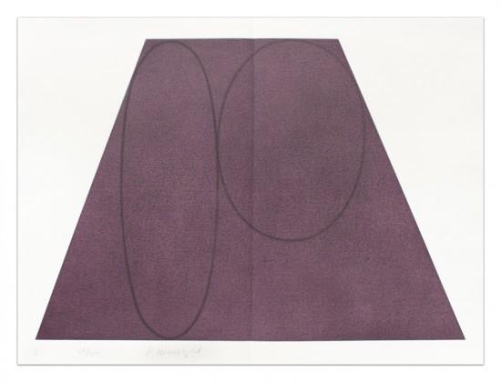 Robert Mangold - Plane/Figure Series, Folded II (Purple)