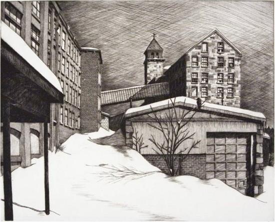 Sean Hurley - Snowdrifts at Essex Mill [Newmarket, NH]