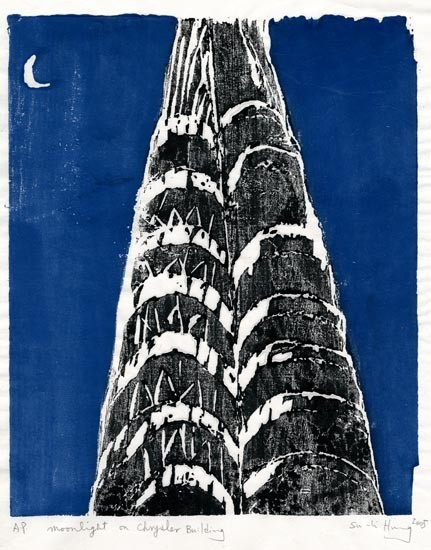 Su Li Hung - Moonlight On Chrysler Building