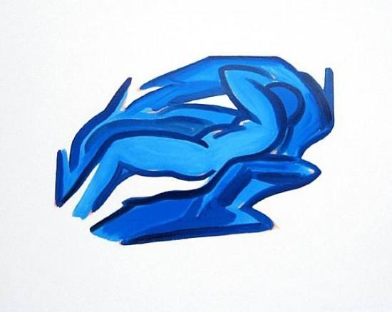 Tom Wesselmann - Blue Nude #4