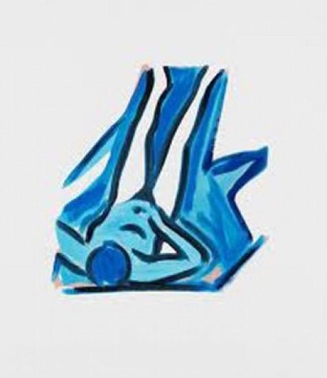 Tom Wesselmann - Blue Nude #2, 2001