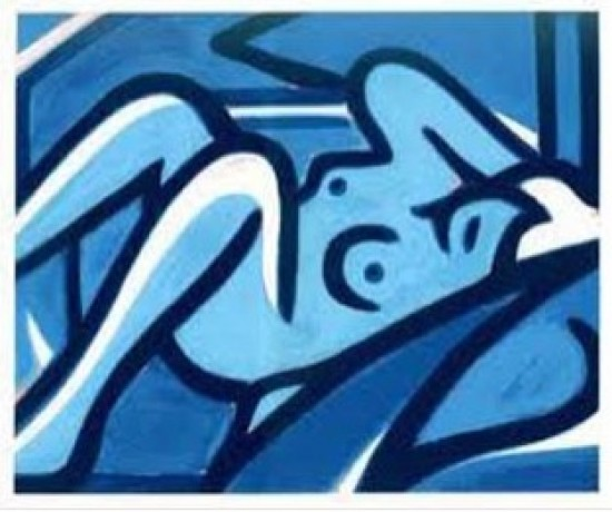 Tom Wesselmann - Blue Nude, 2000