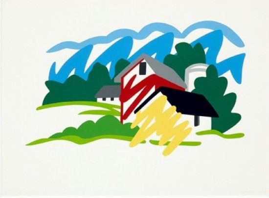 Tom Wesselmann - House and Barn in Distance, 1991