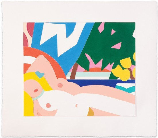 Tom Wesselmann - Sunset Nude with Yellow Tulips, 2000