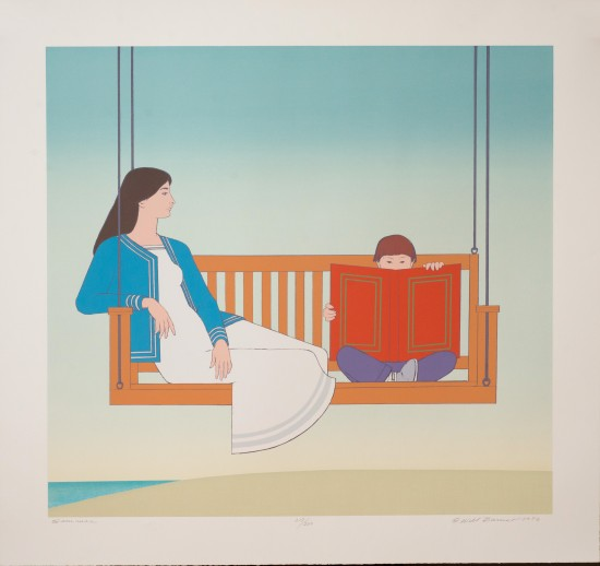 Will Barnet - Prints - Summer (Reading on a Swing)