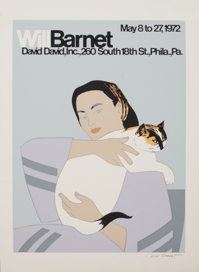 Will Barnet - Prints - Woman with White Cat Poster