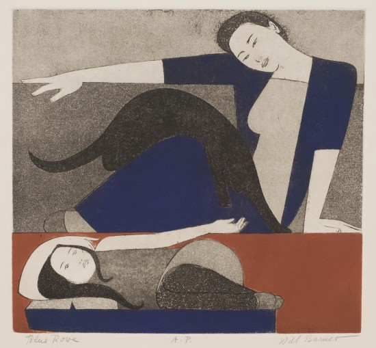 Will Barnet - Prints - Blue Robe, The