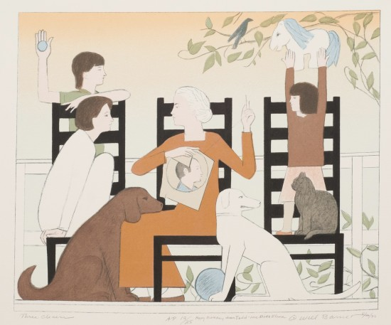 Will Barnet - Prints - Three Chairs