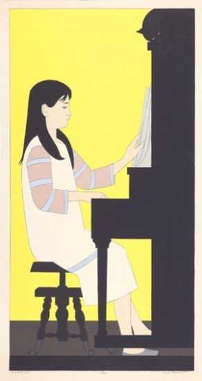Will Barnet - Prints - Girl at the Piano