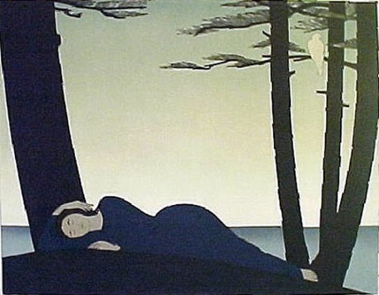 Will Barnet - Prints - Reclining Woman