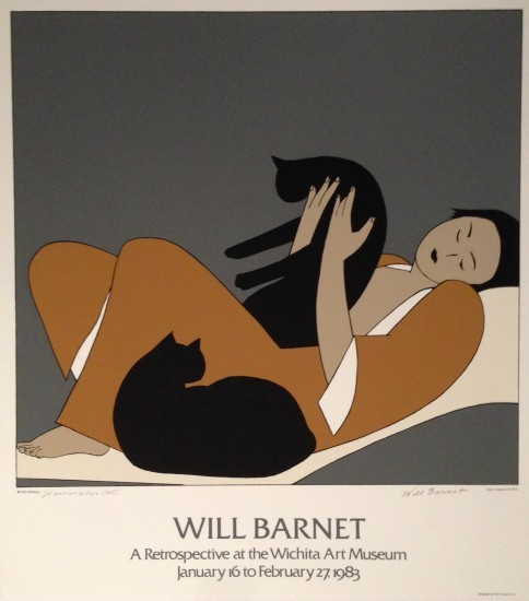 Will Barnet - Prints - Woman and Cats Poster