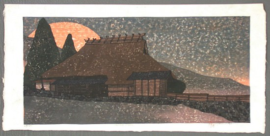 Joshua Rome Prints - Woodblock Prints - Harvest Moon