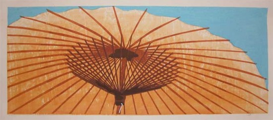 Joshua Rome Prints - Woodblock Prints - Ipponkasa (One Umbrella)