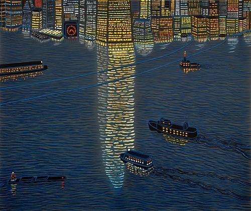 Yvonne Jacquette - Hudson Reflections
